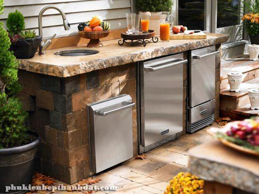 Thiết kế bếp ngoài trời cho nhà thêm thông thoáng và đẹp mắt