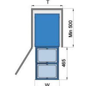 Thùng rác 2 ngăn âm tủ bếp (307013) - Higold 5