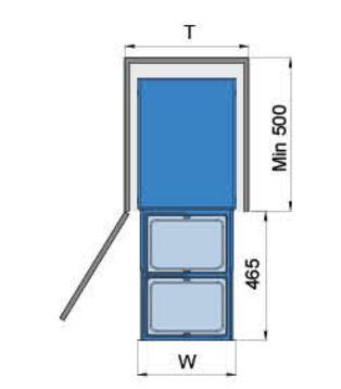 Thùng rác 2 ngăn âm tủ bếp (307013) - Higold 2
