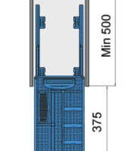 Kệ gia vị dụng cụ inox bản 300mm ray giảm chấn 6