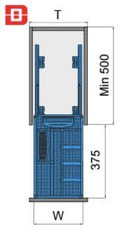 Kệ gia vị dụng cụ inox bản 300mm ray giảm chấn 2