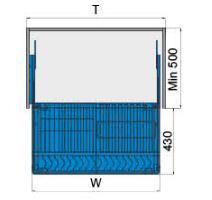 Rổ chén dĩa ray giảm chấn bắt mặt hộc inox 304 (303601, 303602, 303603) - Higold 2