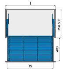 Rổ xoong nồi ray giảm chấn bắt mặt hộc inox 304 (303111, 303112, 303113) - Higold 2