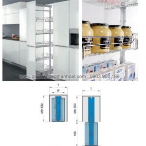 Kệ kéo 6 tầng inox 304 (201106) - Higold 3