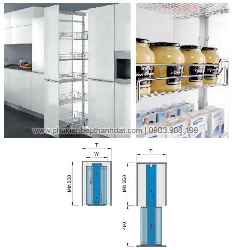 Kệ kéo 6 tầng inox 304 (201106) - Higold 2