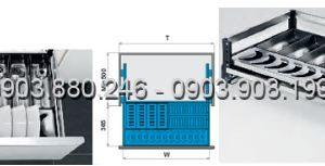 Kệ chén dĩa bản bắt mặt hộc inox 304 (303301, 303302, 303303, 303304) - Higold 3