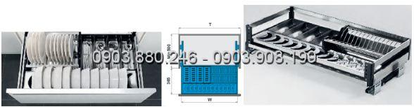Kệ chén dĩa bản bắt mặt hộc inox 304 (303301, 303302, 303303, 303304) - Higold 2