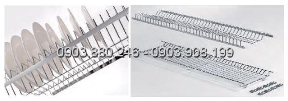 Kệ chén 2 tầng âm tủ inox (401011, 401012, 401013, 401014) - Higold 3