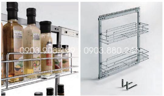 Kệ gia vị dụng cụ inox 304 (304021, 304022) - Higold 2
