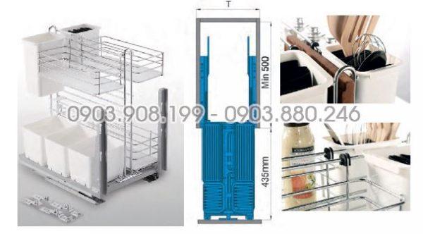 Kệ gia vị dụng cụ God ray giảm chấn inox 304 (306063) - Higold 2