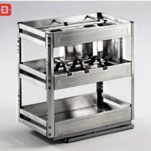 Kệ gia vị dụng cụ inox bản 300mm ray giảm chấn 8