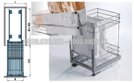 Kệ gia vị   bánh mì ray giảm chấn inox 304 (306012) - Higold 2