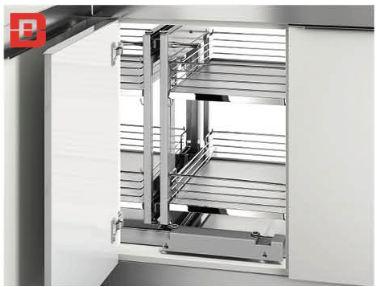 Kệ góc kéo đáy gỗ 800mm (101105) - Higold 3