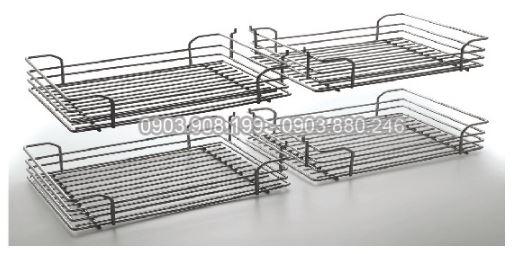 Kệ kéo 2 tầng inox (401005, 401006) - Higold 3