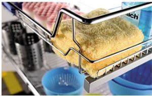 Rổ xoong nồi dưới bồn rửa ray giảm chấn inox 304 5