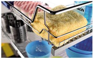 Rổ xoong nồi dưới bồn rửa ray giảm chấn inox 304 3