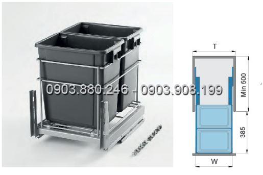 Thùng rác 2 ngăn (307012) - Higold 2