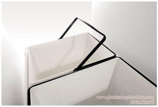 Thùng rác 2 ngăn âm tủ bếp (307013) - Higold 4