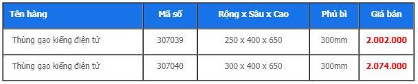 Thùng gạo kiếng điện tử (307039, 307040) - Higold 2