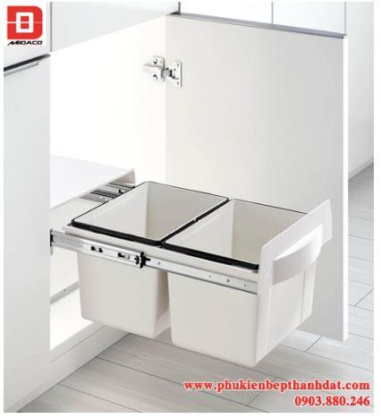 Thùng rác 2 ngăn âm tủ bếp – Higold