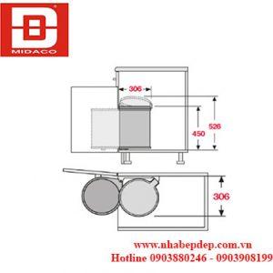 Thùng rác đơn Hafele Hailo Big Box 3720-00 2