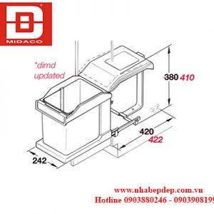 Thùng rác đơn Hafele Hailo Solo 3632-01 2