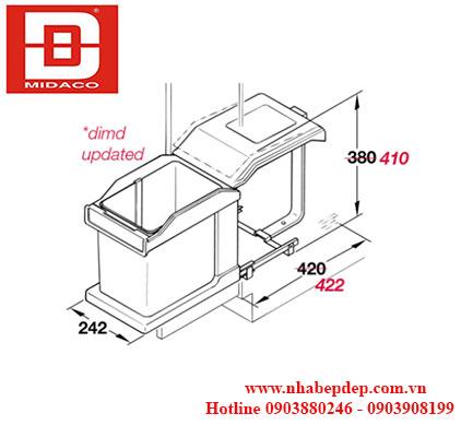 Thùng rác đơn Hafele Hailo Solo 3632-01 1