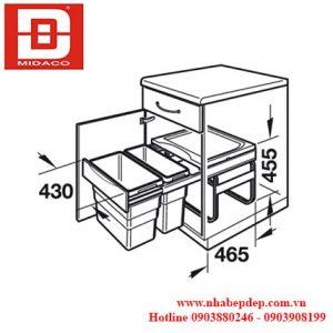 Thùng rác đôi Hafele 3668-50 4