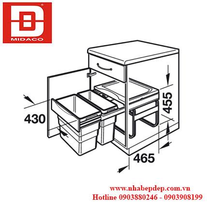 Thùng rác đôi Hafele 3668-50 2
