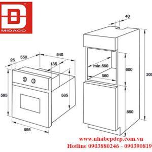 Lò nướng âm tủ Hafele HO-T60C 2