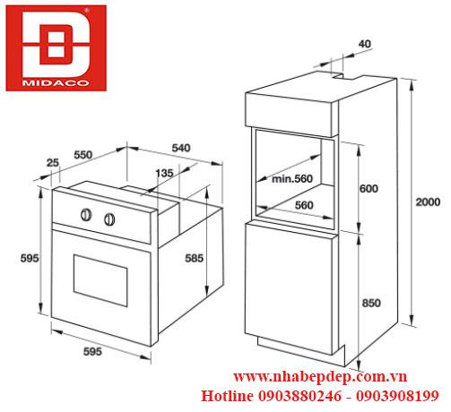 Lò nướng âm tủ Hafele HO-T60C 1