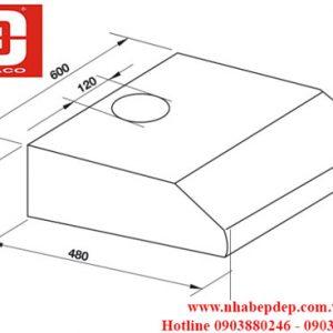 Máy hút mùi âm tủ Hafele HH-BI60B 2