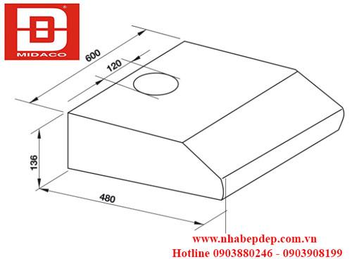 Máy hút mùi âm tủ Hafele HH-BI60B 1