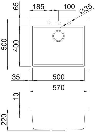Chậu đá TORTORA G-10543 1