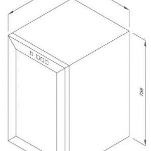 Tủ Bảo Quản Rượu Độc Lập MWC-65B 2
