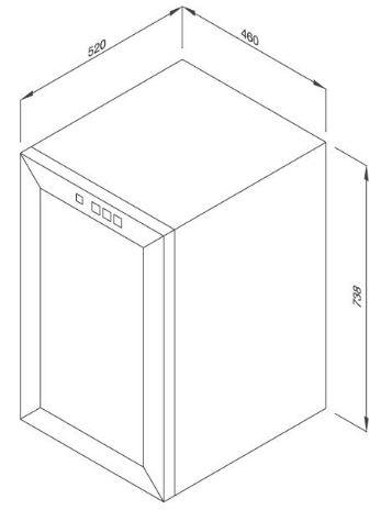 Tủ Bảo Quản Rượu Độc Lập MWC-65B 1