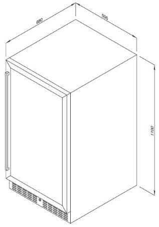Tủ Bảo Quản Rượu Độc Lập MWC-89S 1