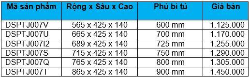 Rổ đựng bát, dĩa ray thường (DSPTJ007V, 7U, 7I2, 7S, 7Q, 7T) - Wellmax 1