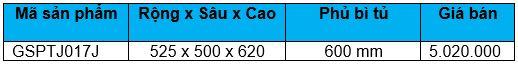 Kệ 6 rổ inox hộp tủ 600mm (GSPTJ017J) - Wellmax 2