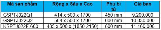 Tủ kéo 12 rổ tủ 450-600 (GSPTJ022Q1, GSPTJ022Q2, KSPTJ022F-600) - Wellmax 1