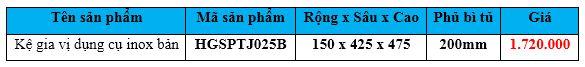 kệ gia vị dụng cụ inõ bản hgsptj025b