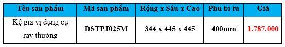 kệ gia vị dụng cụ ray thương dsptj025m