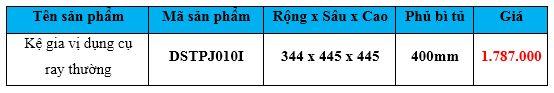 kệ gia vị dụng cụ ray thường dsptj010i