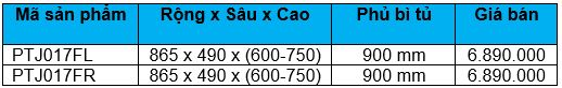 Kệ chiếc lá trái – phải (PTJ017FL, PTJ017FR) - Wellmax 2