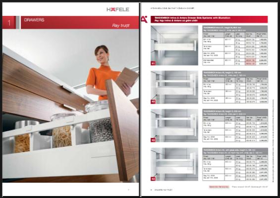 Cung cấp phụ kiện tủ bếp Hafele, xem mẫu và báo giá phụ kiện bếp Hafele 2