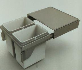 Thùng rác 2 ngăn inox