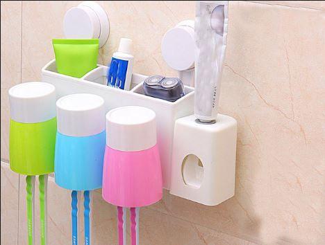 Dụng cụ để bàn chải và máy lấy kem đánh răng thông minh