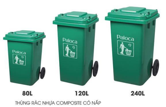 Thùng rác kéo composite