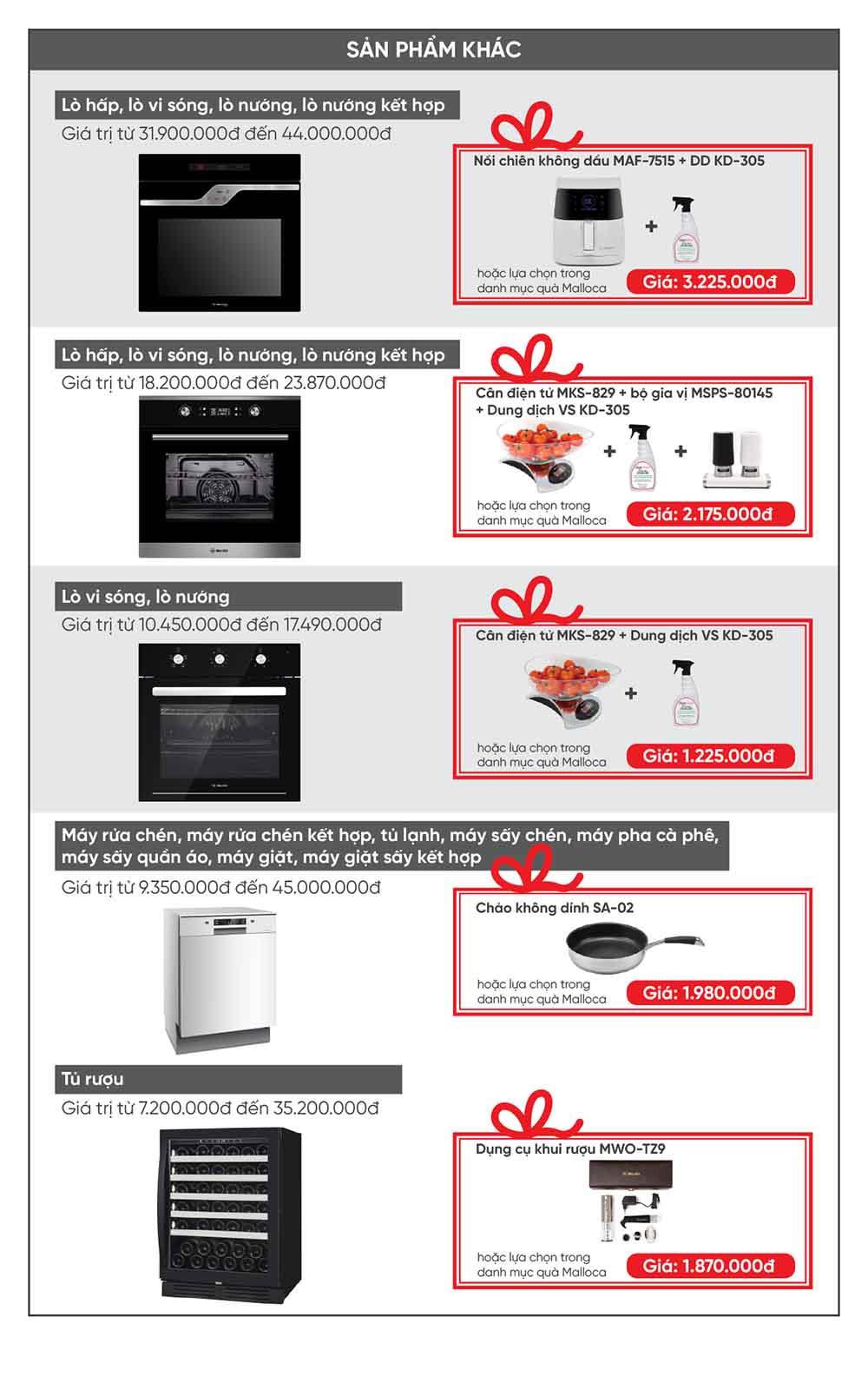 Khuyến mãi Thiết bị nhà bếp Mallloca 3