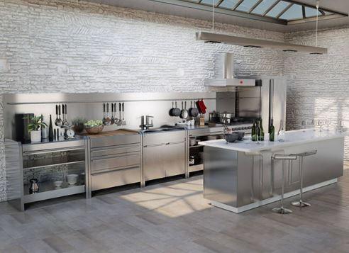 Mẫu tủ bếp inox 304 sang trọng hiện đại